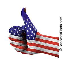 Thumb up for USA