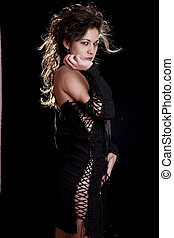 Sensuality Sexy Gothic Lady In Black