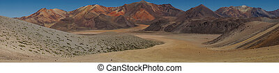 Atacama Panorama - Colourful mountain landscape at Suriplaza...