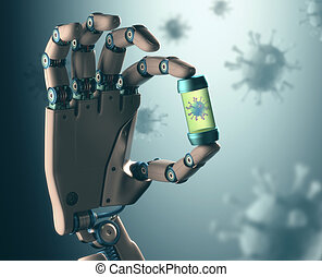 Technology Against Viral Diseases - Robotic hand...