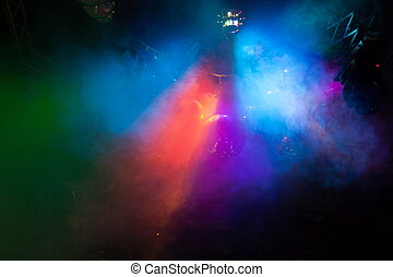 Disco light show, Stage lights with laser