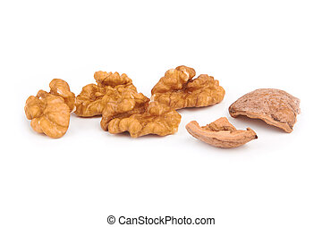 walnuts - Dried walnuts isolated on a white background