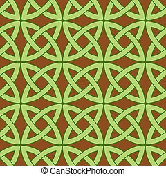 celtic pattern brown - vector seamless pattern with...