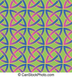celtic pattern - seamless pattern with modern variant of...