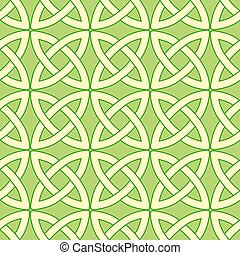 green celtic pattern - tender spring green vector seamless...