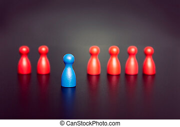 Stand out and be unique - leadership business concept with...