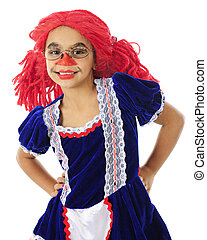 """Happy Young Rag Doll - Close-up of a young elementary """"rag..."""