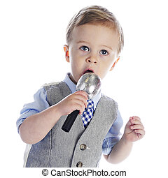 Litte Mike Singer - An adorable 2-year old singing or...