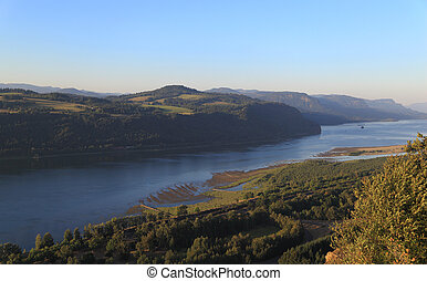 Columbia River Gorge - A view of the Columbia River Gorge...