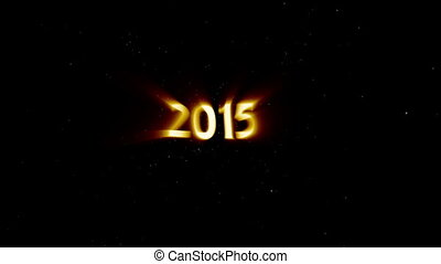 2015 New Year Coming in Light Rays