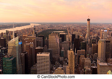 view on central park in New York - beautiful view on central...