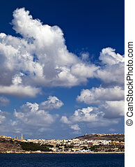 Mgarr Harbour - View from outside Mgarr Harbour on the...