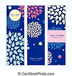 Vector colorful bursts vertical banners set pattern...