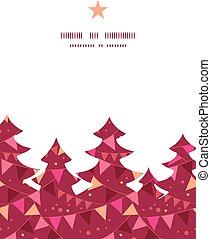 Vector decorations flags Christmas tree silhouette pattern...