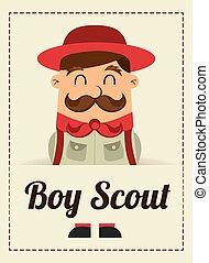 boy scout design - boy scout graphic design , vector...