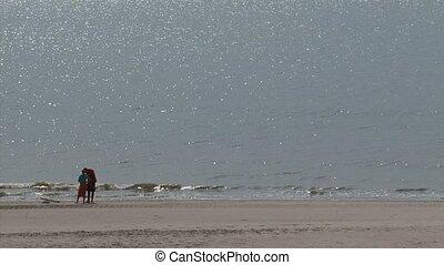 Couple at beach ridge