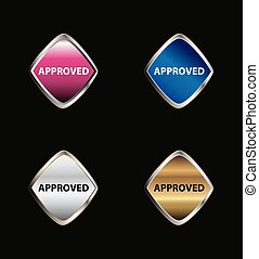 Approved tag button set