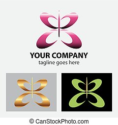 Butterfly logo icon vector