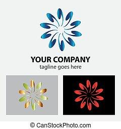 Abstract circular design logo