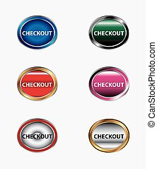 Checkout Button icon set