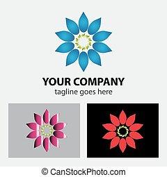Circular Flower logo vector