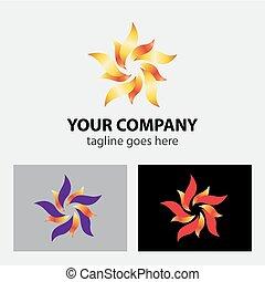 Flower logo sign