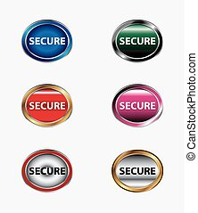 secure vector button