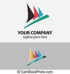 Sailboat speed sign symbol