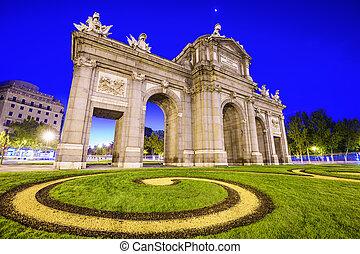 Puerta de Alcala - Madrid, Spain at Puerta de Alcala gate.