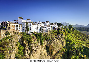 Ronda, Spain Cliffside Town - Ronda, Spain buildings on the...