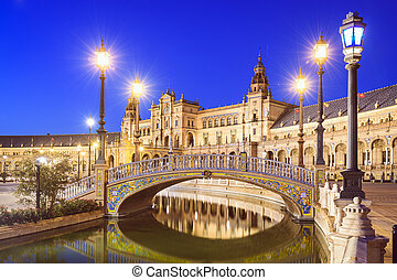 Spanish Square of Seville, Spain - Seville, Spain at Spanish...