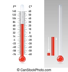 Thermometer - Illustration of thermometer with Fahrenheit...