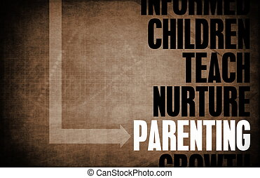Parenting as a Good Parent Abstract Concept