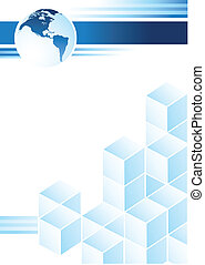 Blue Design - Blue corporate design with a cubic...