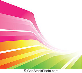 Colourful Design - A stylish design with lines in various...