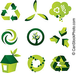 Environmental Design Elements - A set of nine environmental...
