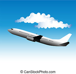 Airliner - Illustration of an airliner taking off