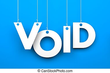 Void - Conceptual image Illustration for Business
