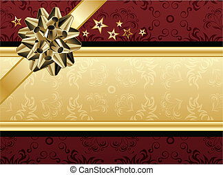 Red and Golden Design - A red and golden present design for...