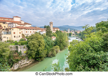 View at the Cividale del Friuli with river - Italy