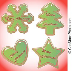 Christmas Cookies With Snowdust and Border