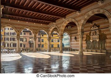 Inside of Loggia Lionello in Udine - Italy