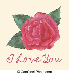 Card with  rose