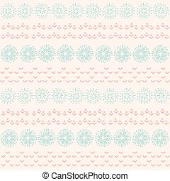 Christmas ornament of snowflakes,pattern