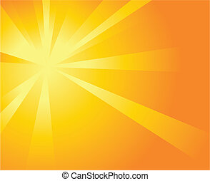 Sunshine Background - Illustration of a burst of orange...
