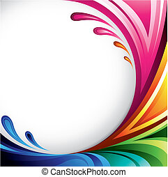 Colorful Background - A splash of various colors -...