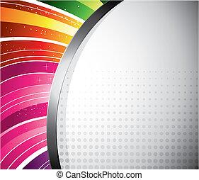 Rainbow Design - A colourful rainbow design for your text