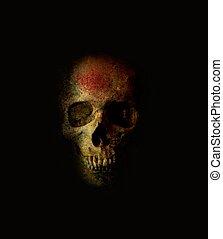 assustador, cranio