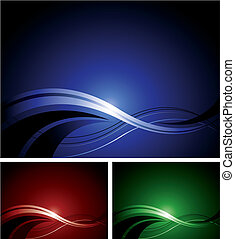 Abstract Design - An abstract design in three different...