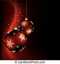 Christmas Design - A christmas design with two red baubles